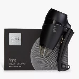 ghd flight travel hair dryer with protective dust bag