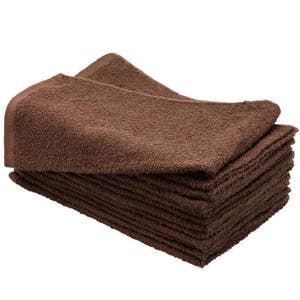 10 Brown Sydney Salon Supplies BEAUTY TOWEL 100% Cotton Hand Towels Barber/Beauty/Gym/Hotel/Spa
