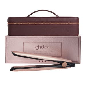 ghd Gold Rose Gold Hair Straightener Gift Set (Gold Professional Styler, Vanity Case)