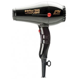 Parlux 385 Black Hair Dryer Power light Ceramic & Ionic 2150w