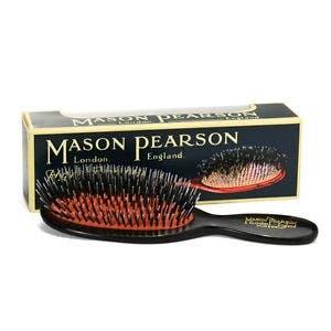 Mason Pearson Pocket Boar Bristle & Nylon - DARK RUBY/BLACK BN4